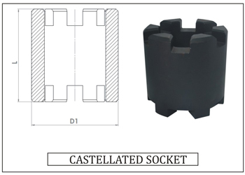 CASTELATED STACK SOCKETS